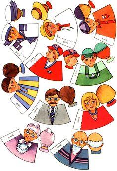 vingerpopjes familie, free printable