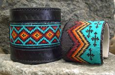 Navajo Rug and Destination/Cross in Leather by Kathleen Brannon
