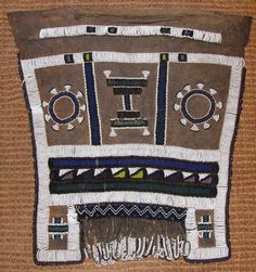 #Ndebele #beadwork #apron. From exhibition – Africa Revisited: Beadwork Dialogue in African Art