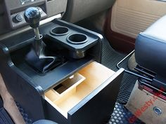 Storage Console [Vanagon] - GoWesty Camper Products - parts supplier for VW Vanagon, Eurovan, and Bus (Camping Hacks Storage) Vw T3 Syncro, T3 Vw, Bus Interior, Campervan Interior, Interior Design, Motorhome Interior, Transporter T3, Volkswagen Transporter, Vw T3 Camper