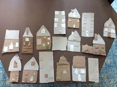 Huisjes van afvalkarton!