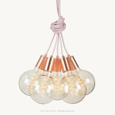 Our Copper Cluster Pendants are made from solid copper, with pink fabric electrical cable cord. The cluster of five pendants can be hung straight down along side each other, draped from the ceiling using a Copper Pendant Lights, Pendant Lighting, Copper And Pink, Electrical Cord, Pink Fabric, Sale Items, Light Up, Pendants, Ceiling Lights