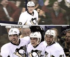 Beau Bennett, James Neal, & Robert Bortuzzo Beau Bennett, Hockey Rules, Stanley Cup Champions, Home Team, Pittsburgh Penguins, Hockey Players, Nhl, Pens, Pride