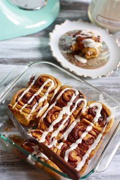 Vegan Pumpkin Cinnamon Rolls from eatliverun.com (aka the best food blog ever).  I made the mistake of making these at 10 o'clock at night, the day before Thanksgiving.  It takes a looooong time to make, but they are sooo good!