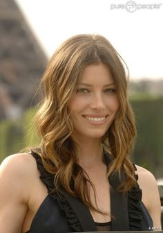 jessica biel superbe avec un chatain dor paris le 14 juin 2010 - Coloration Chatain Clair Miel