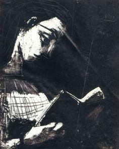 "Picasso:""Jacqueline leyendo""litografia,1953. Pablo Picasso, Collage Illustration, Artsy Fartsy, Printmaking, Darth Vader, 1950s, Purpose, Life, Pictures"
