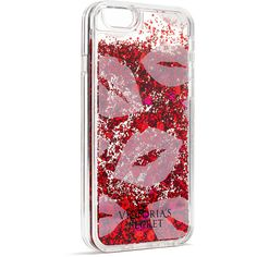 Victoria's Secret Glitter iPhone® 6S Case ($18) ❤ liked on Polyvore featuring accessories, tech accessories, mobile phone cases, print and victoria's secret