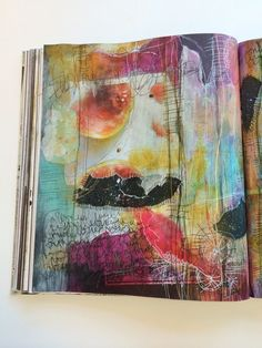 """small voice"" // #journal #artjournal #art #mixedmedia #paint #alteredbook"