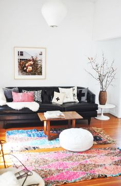 Colorful living room with art. #Photography #Modern