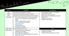 Planification rentrée scolaire - Blogue.pdf Education, Planner Organization, Learning, Teaching, Studying