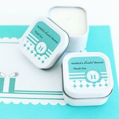 Set of 24 Personalized Square Candle Tins - Something Blue Wedding Party Favors Wedding Reception Favors, Inexpensive Wedding Favors, Tea Party Wedding, Candle Wedding Favors, Candle Favors, Personalized Wedding Favors, Wedding Dress, Outdoor Bridal Showers, Tea Party Bridal Shower