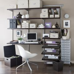 Nice Smart Decorating A Home Office Design Ideas: Home Office Designs Ideas With  Black Desk, Chair And Accessories