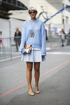 Street Chic: Paris, Shades of Blue