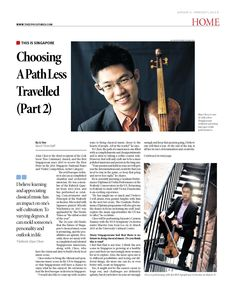 Choosing A Path Less Travelled (Part 2) (Pg 1/2)  --- (Epoch Times, Singapore Edition: Issue 503, January 23 – February 5, 2015)