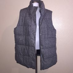 Puff vest Gray speckled best. Material listed in last picture. New never worn. Old Navy Jackets & Coats Vests