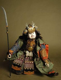 Musha ningyo warrior doll. Edo period, 19th Century