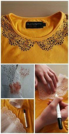 DIY Decoração: Estilo DIY - Customização de camisetas                                                                                                                                                      Mais