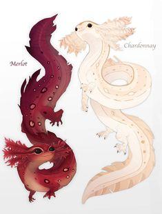 Cute Fantasy Creatures, Mythical Creatures Art, Mythological Creatures, Cute Creatures, Magical Creatures, Mystical Creatures Drawings, Creature Concept Art, Creature Design, Cute Animal Drawings