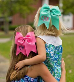 Monogrammed Hair Bows - Southern Mess Boutique - 1