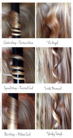 Diffrent Types Of Curls