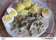 Fazolky na kyselo Potato Salad, Potatoes, Breakfast, Ethnic Recipes, Morning Coffee, Potato, Morning Breakfast