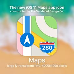 I've constructed the new maps app icon for iOS 11. Grab it here in high resolution: http://fav.me/dbk5adm