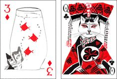 A deck of cards by artiphany — Kitten Club. $9.50 for the deck. Dogs and mermaids are available, too!!