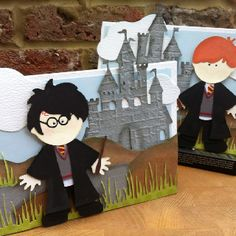 Harry Potter cards made using Cricut carts every day paper doll and dress up