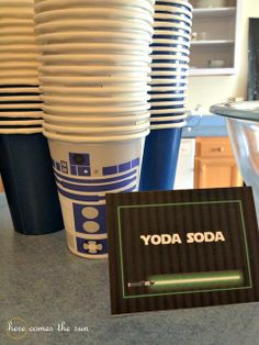 Yoda Soda at a Star Wars Party #starwars #party