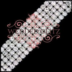 Crystal Rhinestone Banding - 5 Row : Wedded Glitz : Crystal, Rhinestone, and Couture Wedding Accessories - http://WeddedGlitz.com    Add some bling to your flower bouquet with this flexible crystal banding.  Easy to cut and apply, the crystal trim can be used as a wrap around your bouquet or to accent flower girl baskets and other ceremony items.