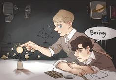 'deducethejuice said: Teen!lock John and Sherlock studying for a big test at school?', by seki0930 (3 may 2014)