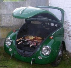 VW Bug turned into a grill
