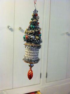 bottle brush tree ornament tutorial by christmasnotebook, via Flickr