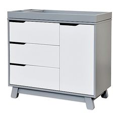 The versatile Hudson 3-Drawer Changer Dresser from Babyletto combines a changing table, 3-drawer dresser and storage cabinet in one practical package. In a mid-century modern design, this piece provides modern space-saving convenience.