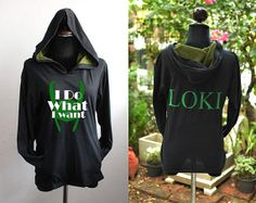 Hey, I found this really awesome Etsy listing at https://www.etsy.com/listing/165268707/loki-hoodie-black-and-olive-green-hoodie