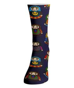 Another great find on #zulily! Purple & Yellow Russian Nesting Doll Socks #zulilyfinds
