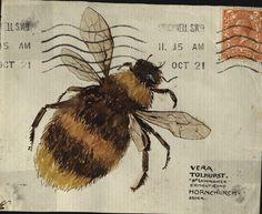 The Mystery of the Tolhurst Envelope: Case Closed Mail Art Envelopes, Art Postal, Vintage Bee, Vintage Paper, Decorated Envelopes, Envelope Art, Bee Art, Manga Anime, Case Closed
