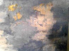 Herbstbäume durch Wolken gelb Öl 2014