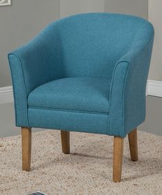 Look what I found on #zulily! Teal Tub Chair #zulilyfinds