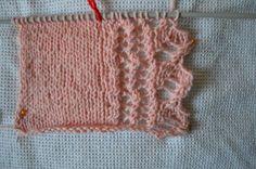 Il mio Mondo: Punto maglia per bordino: si lavora su un multiplo...