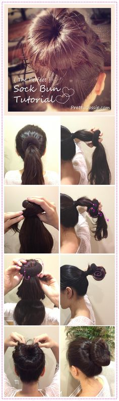 Finally, a sock bun tutorial that makes sense! Thank you Pretty Gossip!