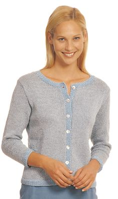madeline cardigan, made with worsted weight/10 ply yarn