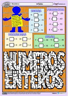 Cálculo de números enteros - Actiludis