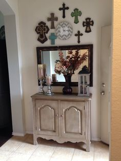 Entryway Decor Cross Wall