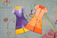 How to make an origami dress! Might use this for a Relief Society lesson/handout.