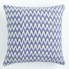 Wisteria - Accessories - Pillows & Cushions - Zigzag Indigo Ikat Pillow - $29.00
