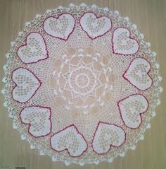 Crochet: Placemats Heart