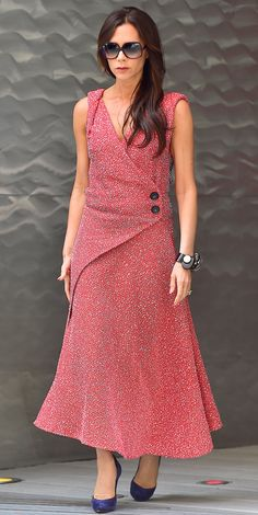 See 10 Celebrity Designers Wearing Their Own Designs - Victoria Beckham from InStyle.com