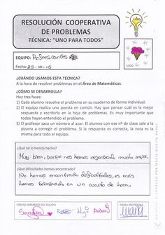 DIARIO DE UN AULA COOPERATIVA DE EDUCACIÓN PRIMARIA Teaching Methodology, Teaching Tips, Math 2, Fun Math, Too Cool For School, Middle School, School Items, Flipped Classroom, Cooperative Learning