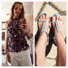 Love these heels from Charming Charlie's! And halter top from Wet Seal.
